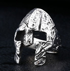 High quality punk trend versatile stainless steel men ring Spartan Warrior Mask