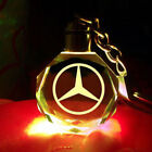 2018 New LED car logo keychain crystal light changing car key Chain keyring