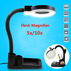 Magnifying Crafts Glass Desk Lamp 5X 10X Magnifier With LED Lights Practical