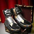 Chic Men Shiny High Top Lace Up Vogue Sneakers Street Style Shoes Board Boots