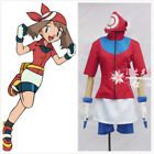 Pokemon May Trainer uniforms costume cosplay full set with gloves#JJ3