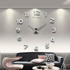 EP_ Super Large Size Metal Analog Indoor Wall Clock Living Room Cafe Decor Cleve