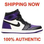 AIR JORDAN 1 RETRO HIGH OG 4-14 COURT PURPLE 575441-501   555088-501 ???????