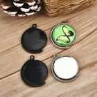 10pcs Rotation Double Side Cameo Cabochon Base Setting Blank Inner Size 25mm