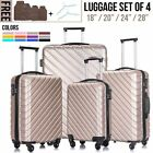 Kyпить Set of 4&3 Nested Spinner Luggage Set Trolley Suitcase w/Lock 18'' 20'' 24