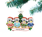 Внешний вид - Personalized Christmas Tree Ornaments Family of 2 3 4 5 Ugly Sweater Ornament