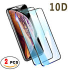 2-Pack Full Coverage Tempered Glass Screen Protector For iPhone X XS Max XR 8 8+