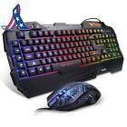 Havit Rainbow Backlit Wired Gaming Keyboard Mouse Combo