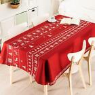 Christmas Decorative Table Occupy Cotton And Linen Tablecloth Home Decoration New