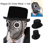 Plague Doctor Mask Birds Long Nose Beak Faux Leather Steampunk Halloween Costume