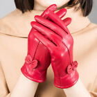 Gloves Womens Genuine Lambskin Leather Solid Winter Warm Driving Soft Lining USA