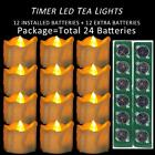 Micandle 12 Pack Battery Timer Tea Lights,6 Hours On And 18 Hours Off In 24 Hour