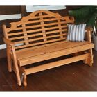 A & L Furniture Western Red Cedar Marlboro Outdoor Loveseat Glider