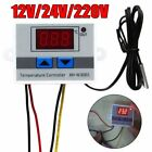 LCD 12/24/220V Digital LED Temperature Controller Thermostat Control Switch New