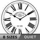 Hamilton White Silent   Wall Clock Non ticking Battery Operated