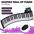 Portable 88 Keys Electronic Roll Up Piano Flexible Silicone Hand Roll Keyboards