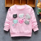 Kids 6M-5T Toddler Baby Girls Winter Sweatshirts Sweater jacket Pullover Tops