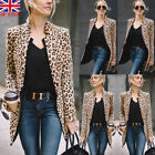 UK Women's Mid-length Slim Casual Blazer Suit Lady Work cardigan Coat Outerwear