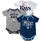 "Tampa Bay Rays MLB Majestic Infant ""Three Strikes!"" 3 Piece Creeper Set"