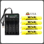 9800mAh Rechargeable 18650 Battery 3.7V Li-ion Battery Intelligent Smart Charger