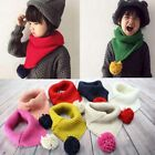 Autumn Winter Warm Scarves Neck Collar For Kids Knitted Scarves G