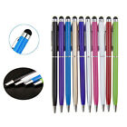 1/5/10X 2 in1 Touch Screen Stylus Ballpoint Pen for iPad iPhone Samsung Table KL