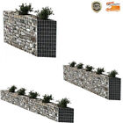 Gabion Basket Planter Raised Vegetable Bed Steel 4 size Garden Wall Fence