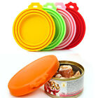 Reusable Pet Food Can Cover Silicone Dog Cat Storage Tin Cap Lid Multiple Sizes