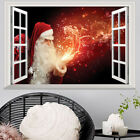 New Personality Christmas Decoration Creative Fake Window Parlor 3d Wall Sticker