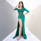 New 2018 Oriental Belly Dance Costumes 2Pics Long DressShorts