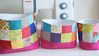 Gorgeous Handmade Quilted/Patchwork Fabric Baskets
