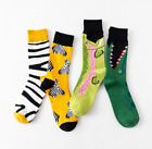 Unisex Cotton Socks Animal Bird Shark Zebra Corn Sea Food Novelty Funny Socks UK