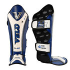 VELO Gel Shin Instep Foot Pads MMA Leg Kick Guards Muay thai Boxing Training 4WB