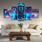 5pcs Modern Animals Lion Picture Wall Art Decor Oil Painting on Canvas Unframed