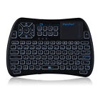 IPazzPort 3-In-1 Portable Handheld Wireless Multi-Color Backlit Keyboard Mouse