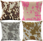 Внешний вид - Decorative Cow Hide Suede Velvet pillow (set of 2) 18 inches by 18 inches
