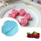 Silicone Rose Star Cake Mold Soap Ice DIY Bakery Tool Flower Star Odorless Heart