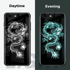 Glow In The Dark Luminous Tempered Glass Back Cover Case For iPhone X XS MAX XR