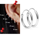 Mini Hoop Earring Sterling Silver 925 8mm 10mm 12mm 14mm 16mm Small Single/Pair image