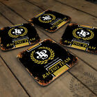 Racing Team Collection Glossy Wooden Coaster Retro Drink Table Garage Mancave