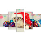 5pcs Christmas Art Oil Painting Print Canvas Picture Home Wall Decor Unframed US