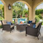 Savona Club Chair and Mendocino MGO Fire Pit Set
