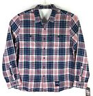 Levis NFL New England Patriots Grid Iron Plaid Flannel Shirt Mens on eBay