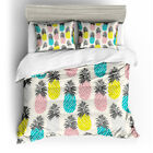 Single Double Twin Full Queen King Bed Pillowcase Quilt Cover RAUO3 Pineapple xw