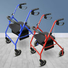 4 Wheels Folding Drive Rollator Lightweight Walking Frame Mobility Aid Seat