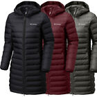 New Womens Columbia Lake 22 Long Hooded Heat Seal 650-Fill Down Jacket Coat