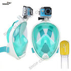 Full Face Swimming Snorkel Mask Scuba Diving Snorkelling Easy Breath GoPro Gift