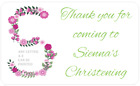 PERSONALISED STICKERS LABELS ADDRESS PARTY BAGS SWEET ALPHABET CHRISTENING