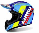 CASCO HELMET AIROH SWITCH SIGN BLUE GLOSS AZZURRO GIALLO OFFROAD CROSS MX