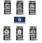 NFL Distressed Football And My Dog Wood Sign Multiple Teams U PICK on eBay